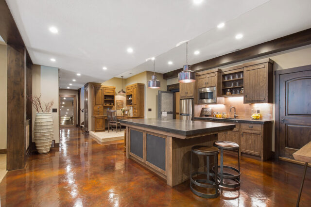 Kitchen epoxy floor
